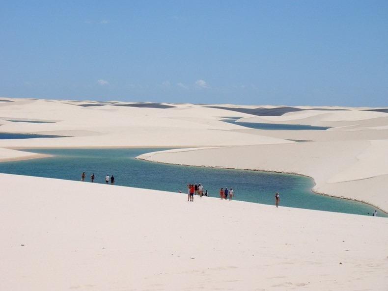 Ocean waters on sand