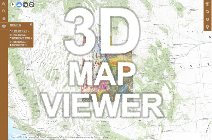 Utah Geologic Map 3D Map Viewer