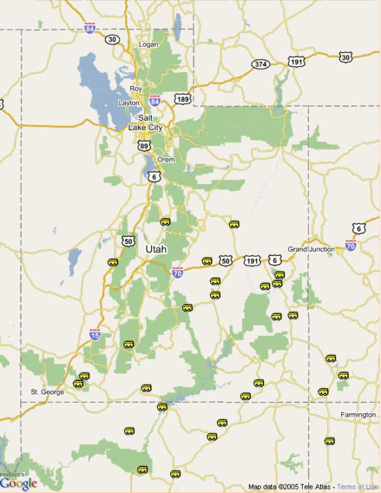 UtahGeologycom Making Utahs Geology Accessible - Road map of utah