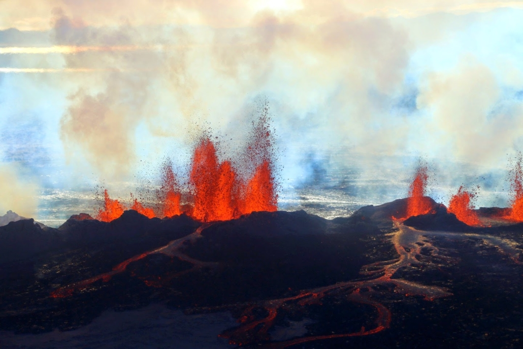 Iceland and Hawaii are great modern examples of the shield volcanoes which have periodically erupted in Utah over the last 15 million years.