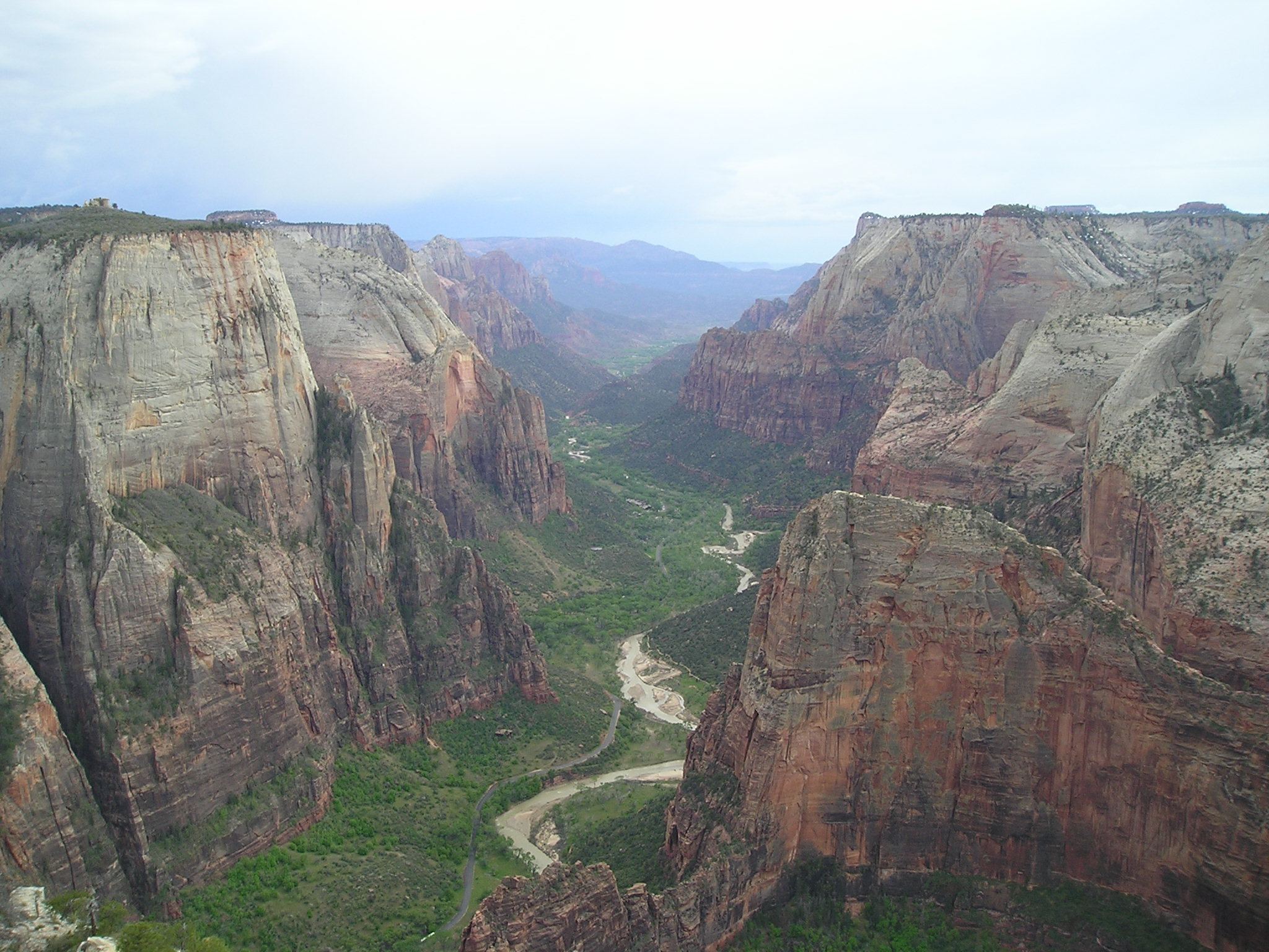 view from Observation Point Trail of Zion National Park