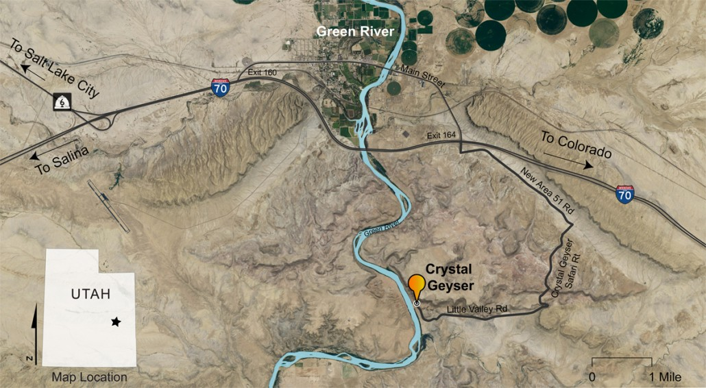map to crystal geyser, utah