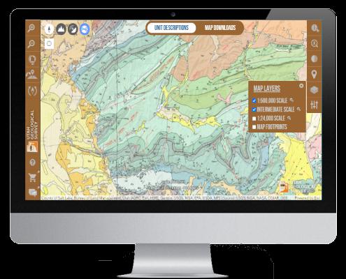 Utah Geology Interactive Map Application for viewing geology of utah